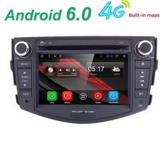 "7"" 1024*600 2 Din Car GPS Navigation for Toyota RAV4 Android 6.0 Autoradio DVD Quad Core DVB-T Audio Radio 3G Tape Recorder #Affiliate"
