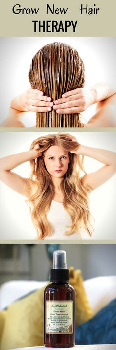 Grow New Hair Therapy. Ultra-concentrated. Use if you are experiencing slow hair growth, loss, thin, weak, unhealthy dry brittle hair. Gentle, non-irritating formula. Fast absorbed ingredients that works wonders on your hair.
