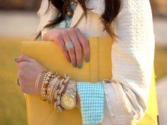 yellow + turquoise