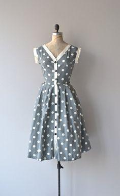 vintage 1950s dress polka by DearGolden