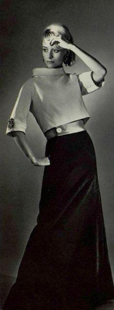 1965 Madeleine de Rauch Vintage 1950s Dresses, Vintage Glam, Blouse Vintage, Vintage Looks, Vintage Outfits, Vintage Pants, Sixties Fashion, Mod Fashion, Timeless Fashion