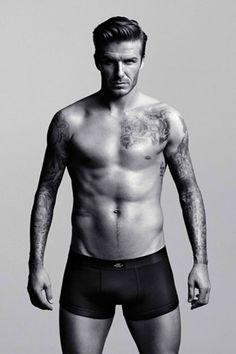 David Beckham underwear statues unveiled