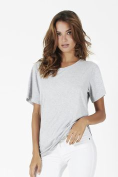 Martolo Tee marle grey | bon label SP16 collection | Luxe basics designed with a Parisian sensibility | Made with love in Australia | Ethical | Organic | Available at bonlabel.com.au