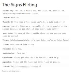 The Signs Flirting. I am on the cusp of Scorpio and Sagittarius this is the best.