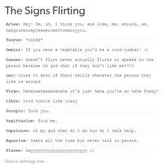The Signs Flirting