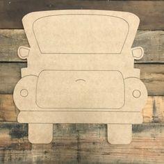Original Truck, Unfinished Wooden Cutout Craft, Paint by Lin.- Original Truck, Unfinished Wooden Cutout Craft, Paint by Line - Fall Door Hangers, Burlap Door Hangers, Wooden Cutouts, Wooden Shapes, Painting Wooden Furniture, Modern Furniture, Outdoor Furniture, Furniture Redo, Metal Furniture