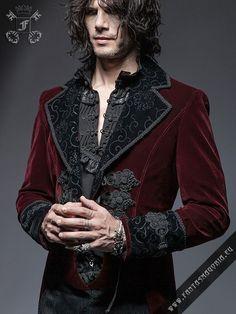 Bloodborne+-+men's+Gothic+style+red+velvet+jacket+by+Punk+RaveBloodborne+jacket