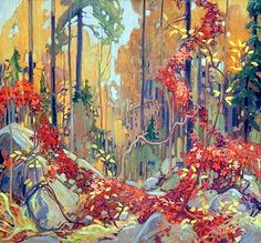 Tom Thomson (Canadian, 1877–1917): In Algonquin Park, 1914. - Google Search