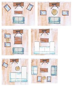 furniture layout These different living room layouts allow for easy conversation, entertaining and enhanced TV viewing. The best layout for you will depend on your plans for the room and how you use the space. Small Living Room Layout, Small Living Room Furniture, Tiny Living Rooms, Small Room Design, Tv Room Small, Living Room Layouts, Small Room Layouts, How To Arrange Living Room, Living Room Decor With Tv