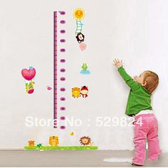 Aliexpress.com : Buy Cute Animals measure 60*180cm height wall stickers /kids wall stickers decorative painting background wallpaper, WS 34 from Reliable Cute Animals height wall stickers suppliers on SW-STAR Rainbow Home $6.59