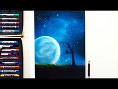 Drawing a surrealistic night sky scene + Q&A | Leontine van Vliet - YouTube