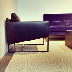 Black Leather Armchair By Calvin Klein High Point Spring Market 2013   Apartment Therapy