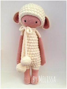 LUPO the lamb made by Melissa G. / crochet pattern by lalylala