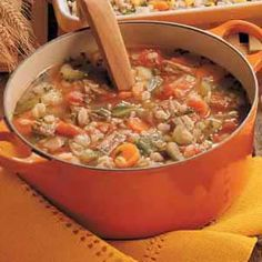Beef Barley Soup Recipe | Taste of Home Recipes