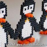 bricolage pingouins en perles à repasser
