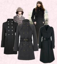 womens military style coats