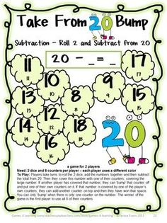 Subtraction Games 25 Subtraction Bump Games by Games 4 Learning This collection of subtraction games contains 25 Subtraction Bump Games that review a variety of subtraction skills with subtraction within 20. $