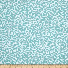 Cloud 9 Organic First Light Flannel Branch Turquoise from @fabricdotcom  Designed by Eloise Renouf for Cloud 9 Fabrics, this double napped (brushed on both sides) organic flannel is perfect for quilting, apparel and home decor accents. This certified 100% organic cotton flannel print meets the GOTS certification; only low impact, organic dyes were used in this product. Colors include turquoise and white.