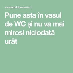 Pune asta în vasul de WC și nu va mai mirosi niciodată urât Pune, How To Get Rid, Deodorant, Good To Know, Cleaning Hacks, Inventions, Diy And Crafts, Projects To Try, How To Plan