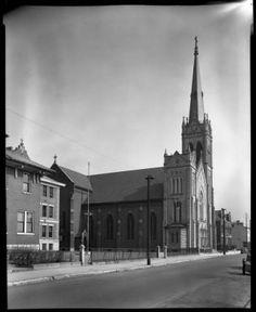 St. Boniface Church. Ext photo of church school & monastery. :: Royal Photo Company Collection