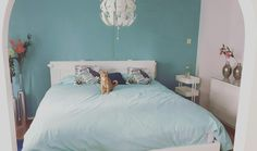#bedroomdecor #blue #ikea #brimnes