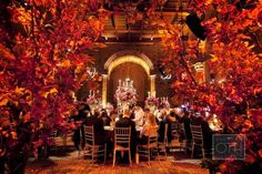 I am wowed by this amazing fall entryway (Cipriani NYC.) Photography by christianothstudio.com/