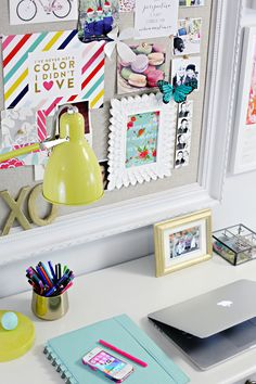 Studio Update: A Frame Worthy Update - IHeart Organizing This blog has super cute ideas for small spaces!