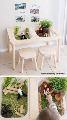 Ikea Montessori, Montessori Bedroom, Montessori Toddler, Sensory Table, Sensory Play, Sensory Bags, Sensory Diet, Sensory Bottles, Baby Sensory