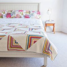 Last but by no means least the grand finale of my Crochet Home is the epic...  Granny Chic Pinwheel Blanket  #pinwheelblanket #emmalambboook #crochethome #crochetblanket #crochetafghan #grannychic #emmalambcrochet  Styling by Emma Lamb / Photography by Jason M Jenkins