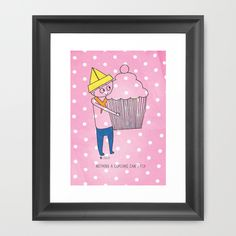 Buy Nothing a cupcake can't fix  by Oliver illustration as a high quality Framed Art Print. Worldwide shipping available at Society6.com. Just one of millions of products available.