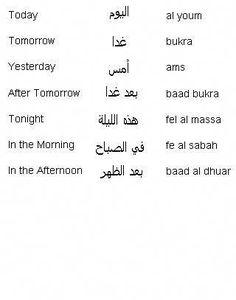 Arabic Words for Times of Day - Learn Arabic #learnarabiclanguage