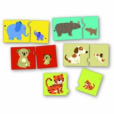 Vilac Melusine's Mother and Baby Match Game, Animals >>> Details can be found at