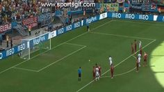 Thomas Muller of Germany scores on a penalty shot to take a 1-0 lead over Portugal in the  2014 World Cup