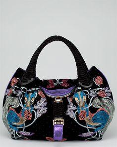 FENDI Black Velvet Squirrel Spy Bag $1799 I think I need it : ) Alpha Gamma, Rodents, Balenciaga City Bag, Baggage, Satchels, Black Velvet, Spy, Pretty Dresses, Squirrel