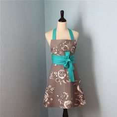English Rose Full Apron for Women with IKEA Fabric by pamwares, $32.00