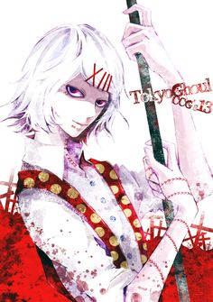 kayutarou13 Juuzou Suzuya, Pretty Star, Father Figure, Smile Everyday, Tokyo Ghoul, Make Me Smile, Anime Art, Fan Art, White Hair