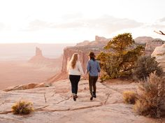 Julie and Meagan celebrated their engagement with a gorgeous, sun-soaked photo session at Utah's Canyonlands National Park. The post Sun-soaked engagement session at Canyonlands National Park appeared first on Equally Wed, modern LGBTQ+ weddings + LGBTQ-inclusive wedding pros. Camping In Ohio, Tight Hug, Sun Soaked, Canyonlands National Park, Save The Date Photos, Photo Sessions, Engagement Session, Monument Valley, Utah