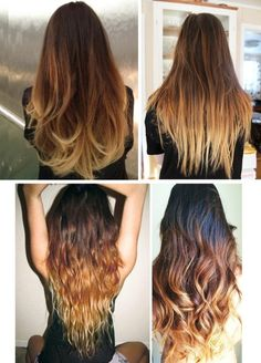 If you want to get Zoes exact ombré look, I would recommend bringing these photos into the salon or using these photos as reference (DIY).     Ombré by zoella-clothes on PolyvoreHair Fashion / Dip Dyed Hair / Brown Ombre Hair Hair and Beauty Tutorials / Search Results for ombre hair | Lockerz