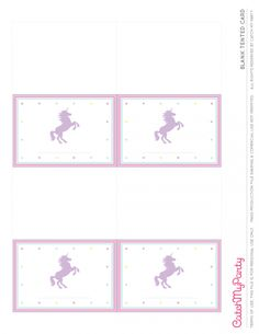 Free Unicorn Printables   Blank Tented Cards | CatchMyParty.com