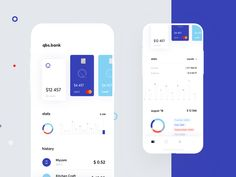 Banking app designed by Cuberto. Connect with them on Dribbble; the global community for designers and creative professionals. Mobile App Design, Ios App Design, Mobile App Ui, Dashboard Design, Graphisches Design, Chart Design, Design Ideas, App Design Inspiration, Applications