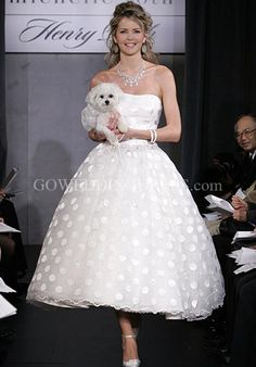 polka dot tea length gown - haha, what about this? ;)