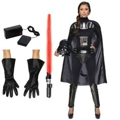Coolest darth vaderette costume for women darth vader darth vader womens adult costume kit solutioingenieria Image collections