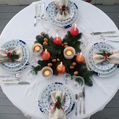 Mix Bogstad Straw and Maxi straw for Christmas tablesetting