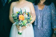 Natural, DIY florals | from Ashley + Wayne's wedding day. See more here: http://lamourfoto.com/wedding-1/