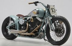customised 2010 Harley-Davidson Softail Crossbones motorcycle,