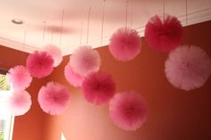 Tulle pom pom set of 20  for weddings party by shanealwilliamson, $180.00