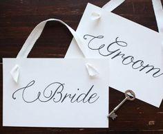 Free Printable Bride and Groom Signs | AllFreeDIYWeddings.com