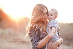 Mother and Child- Fall family portrait with golden light and sunflare. Photo by Intuitive Images Photography http://intuitiveimagesphotography.com