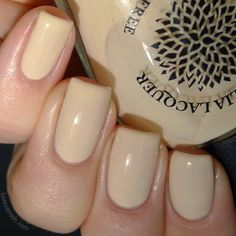 Pale nude nail polish by Black Dahlia Lacquer - Daffodil Petals- pale tan creme - 5-free and handmade