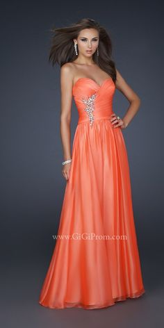Orange prom dress Orange Dress #2dayslook #sasssjane #OrangeDress www.2dayslook.com